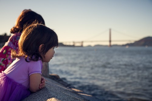 Watching The Tide Roll Away - San Francisco, CA - family photography